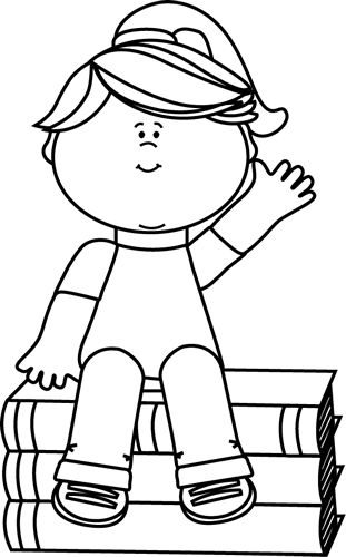 Kid waving bye black and white clipart clipart black and white library Girl saying goodbye clipart - Clip Art Library clipart black and white library