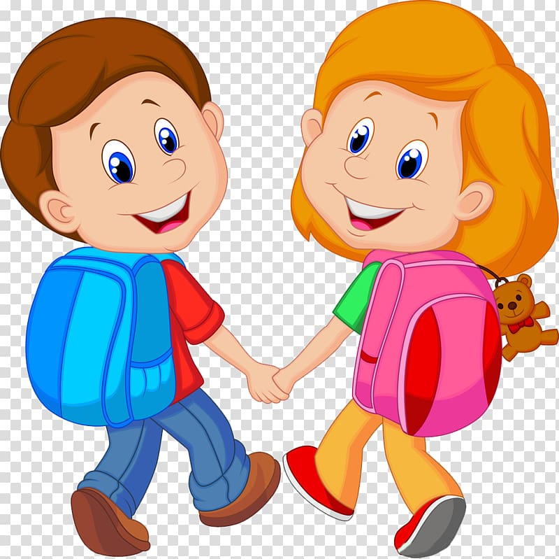 Kid with backpack clipart clip art Boy and girl with backpacks, Backpack Child Cartoon , Little ... clip art