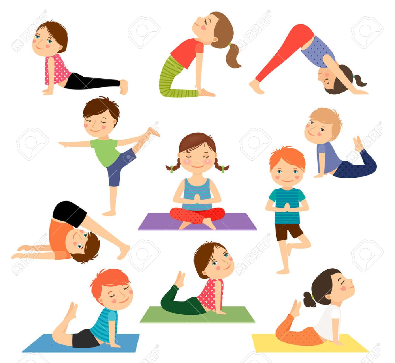 Kid yoga clipart picture transparent library Kids yoga clipart » Clipart Station picture transparent library