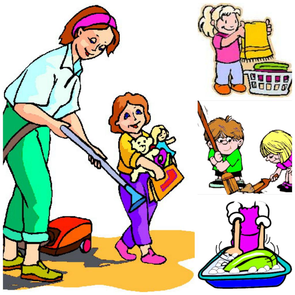 Kidchore clipart clip art black and white Kids Doing Chores Png & Free Kids Doing Chores.png ... clip art black and white