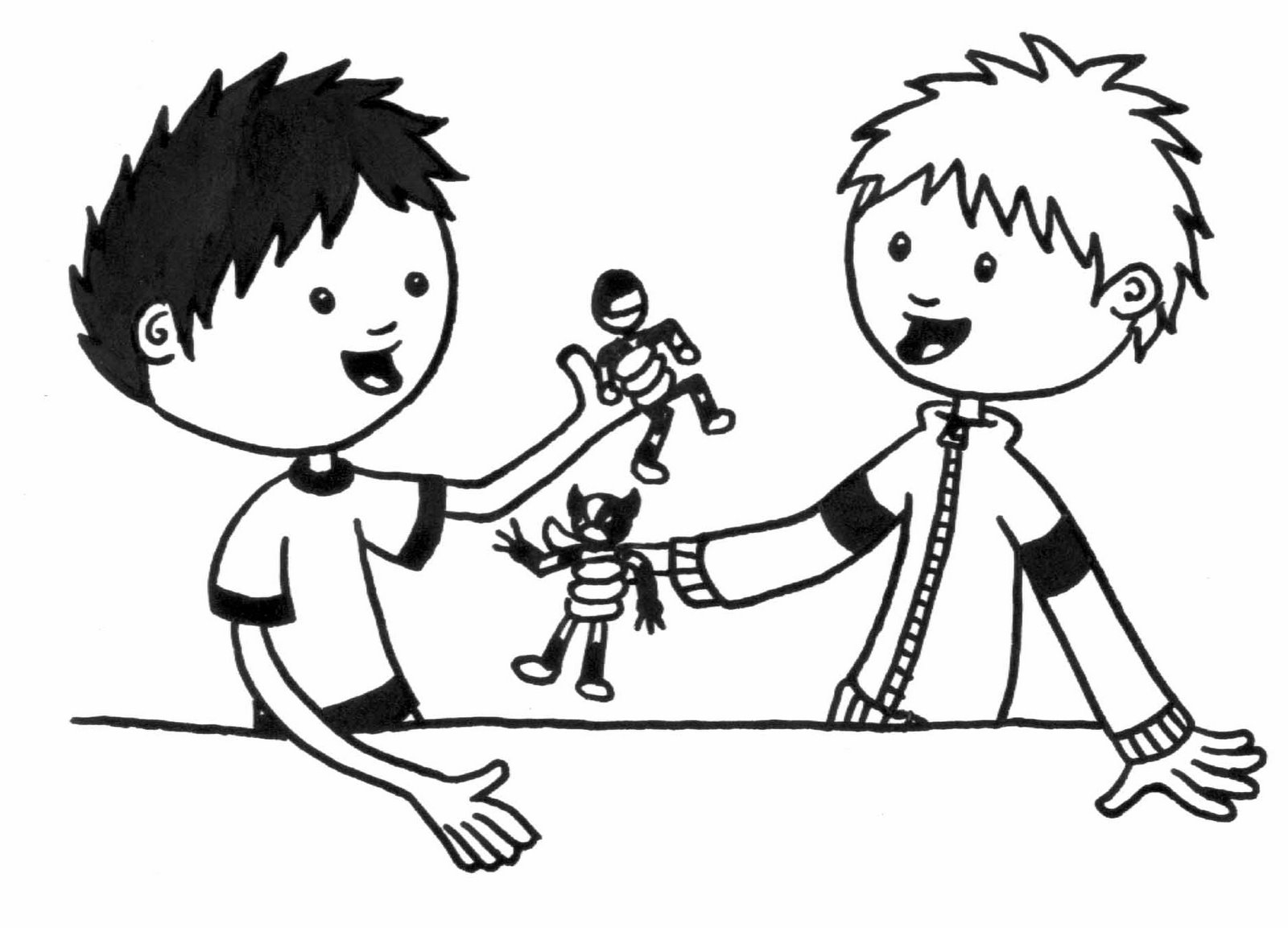 Kids action figures clipart black and white clip free stock Toys Clipart Black And White | Free download best Toys ... clip free stock