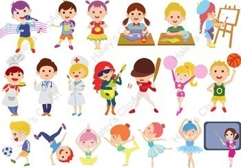 Kids activities clipart clip art transparent Students and Kids\' Activities at school (Clip Art) clip art transparent