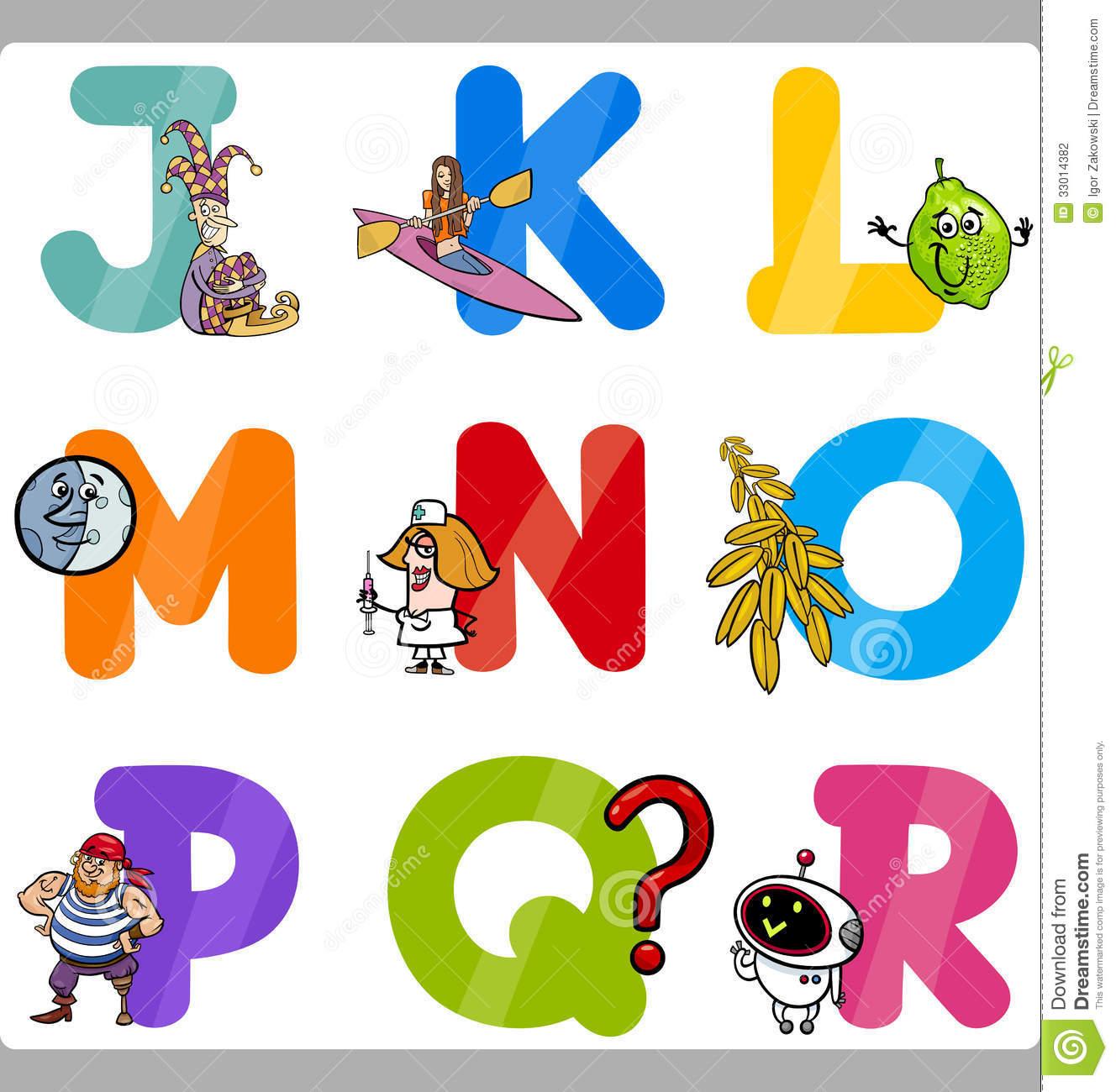 Kids alphabet letters clipart transparent Education Cartoon Alphabet Letters For Kids Stock Photography ... transparent