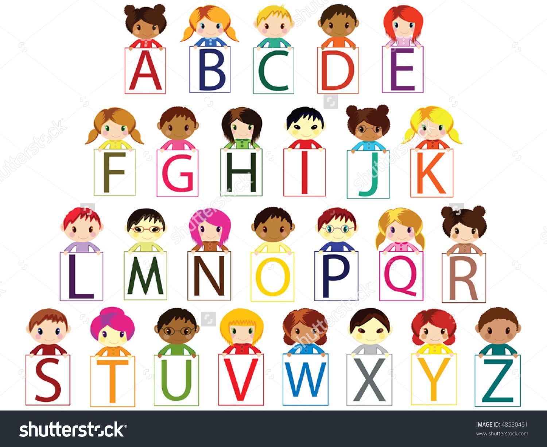 Kids alphabet letters clipart picture free library Kids holding alphabet letters clipart - ClipartFest picture free library