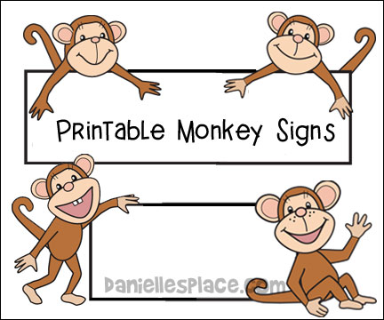 Kids art monkeying around clipart hiden seek picture free stock Monkey Theme Crafts and Learning Activities for Kids picture free stock