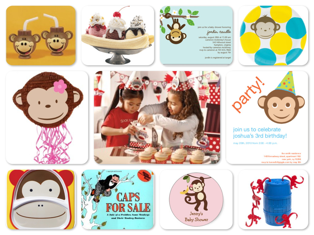 Kids art monkeying around clipart hiden seek graphic library library Monkey Around Party Theme Planning, Ideas & Supplies ... graphic library library