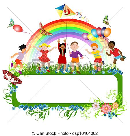 Kids artwork clipart clip library stock Multiracial Clipart and Stock Illustrations. 1,096 Multiracial ... clip library stock