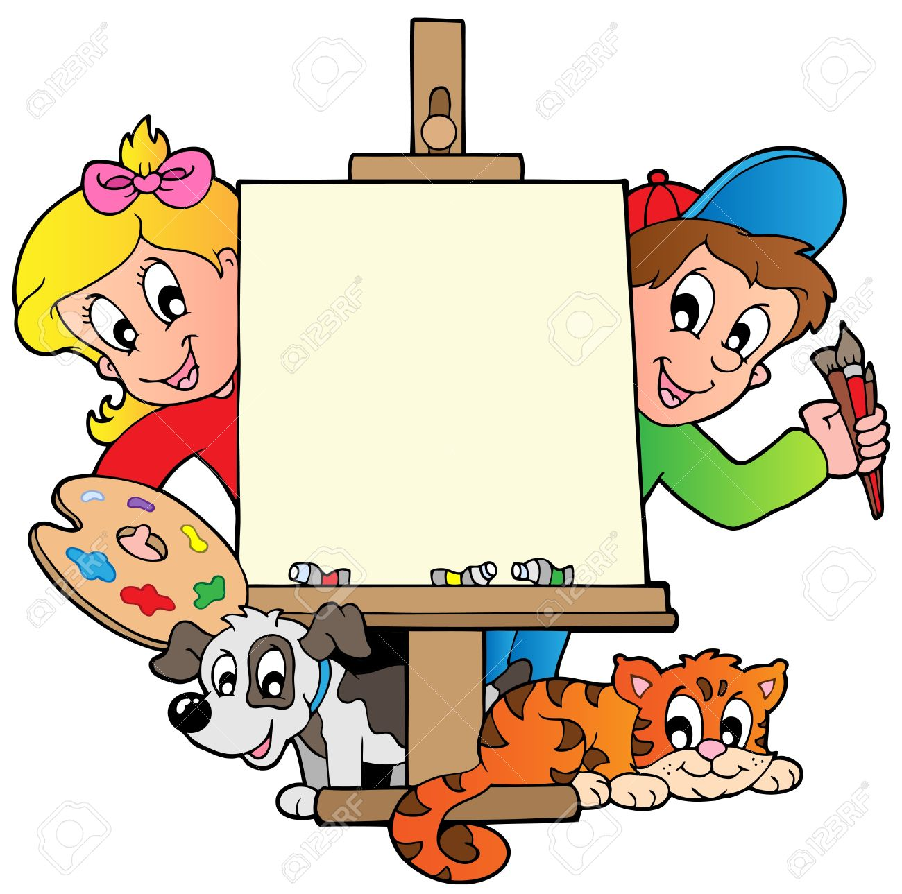 Kids artwork clipart png library Kids Artwork Stock Photos & Pictures. Royalty Free Kids Artwork ... png library