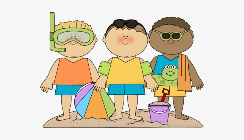 Kids at the beach clipart vector free stock Beach Clipart Family - Kids At Beach Clipart PNG Image ... vector free stock