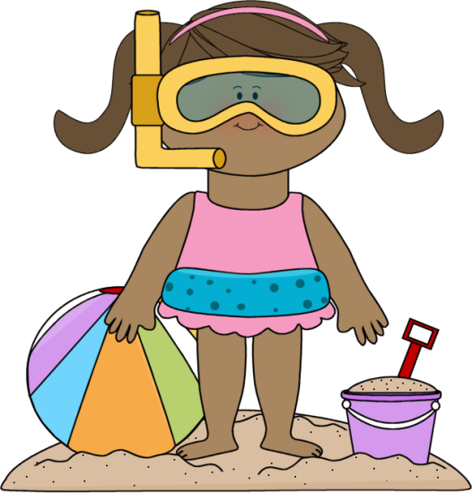 Kids at the beach clipart image freeuse beach clip art | Girl at the Beach Clip Art Image - girl at ... image freeuse