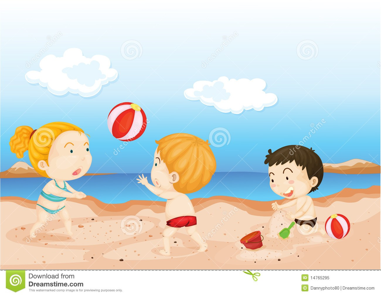 Kids at the beach clipart vector royalty free stock Kids on beach clipart 2 » Clipart Portal vector royalty free stock