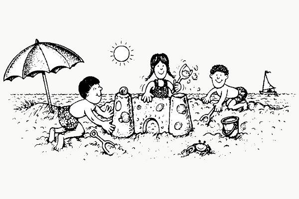 Kids at the beach clipart black and white clip royalty free stock Children Playing At The Beach Clipart Black And White ... clip royalty free stock