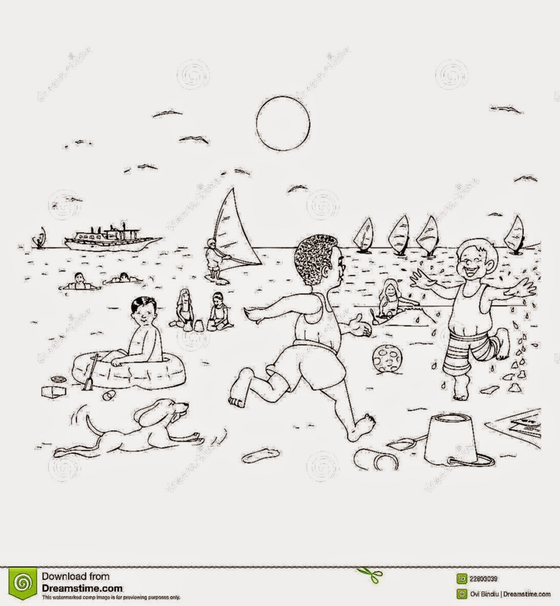 Kids at the beach clipart black and white jpg royalty free Kids at the beach clipart black and white 7 » Clipart Portal jpg royalty free