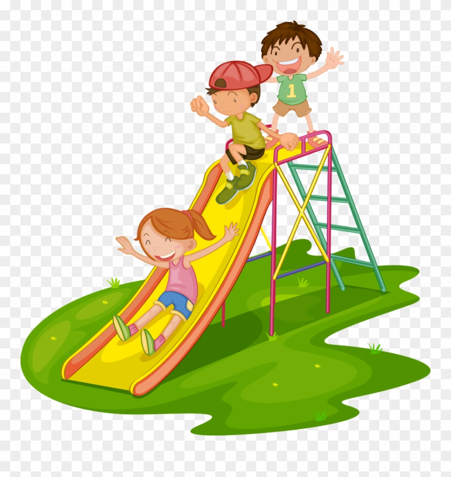 Kids at the park clipart clip transparent library Clipart Kids Park - Mat Slide Clipart - Png Download ... clip transparent library