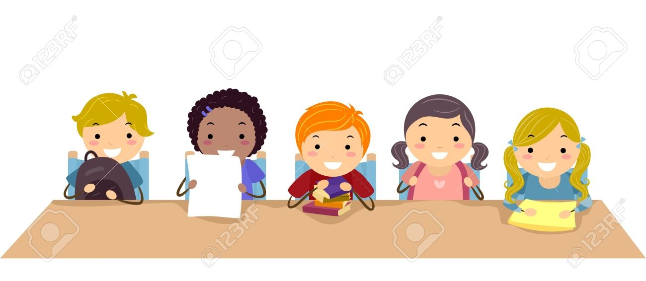 Kids being safe in the classroom clipart clip art transparent Kids In Classroom Clipart - Making-The-Web.com clip art transparent