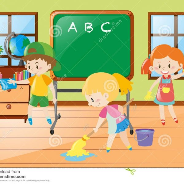 Kids being safe in the classroom clipart vector royalty free download Collection Of Free Coursed Clipart Clean Classroom. Download ... vector royalty free download