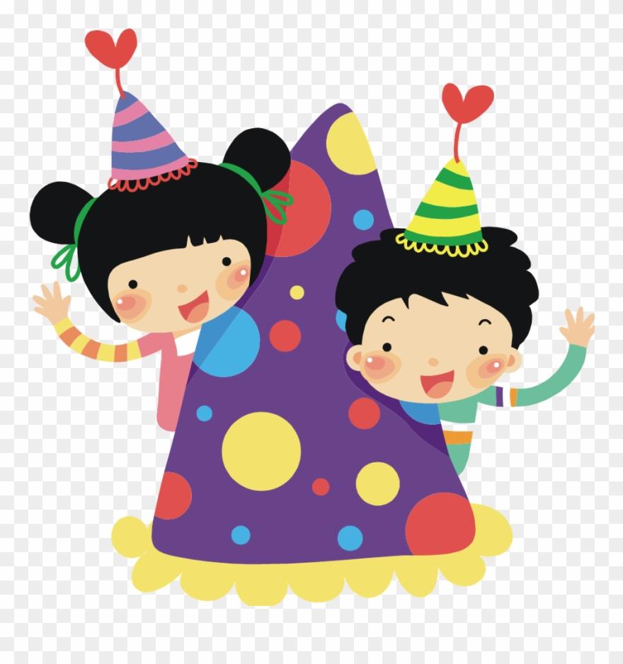 Kids birthday clipart free jpg black and white stock Birthday Clip Art Free Images - Kids Party Clipart Png ... jpg black and white stock