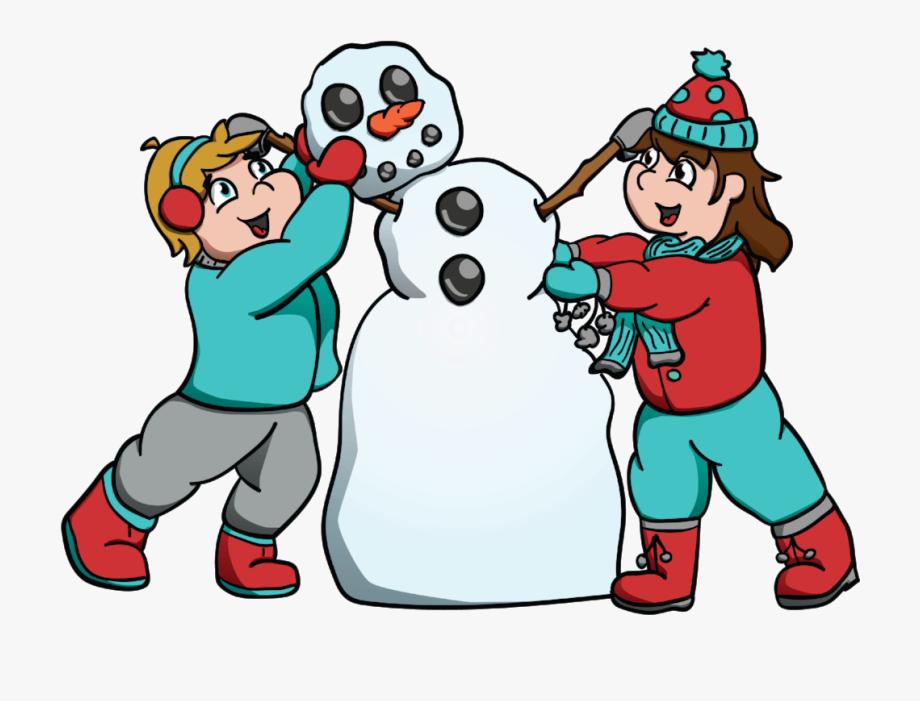 Kids building a snowman clipart clip art library library Kids Building Snowman Hi Rez - Building A Snowman Clipart ... clip art library library