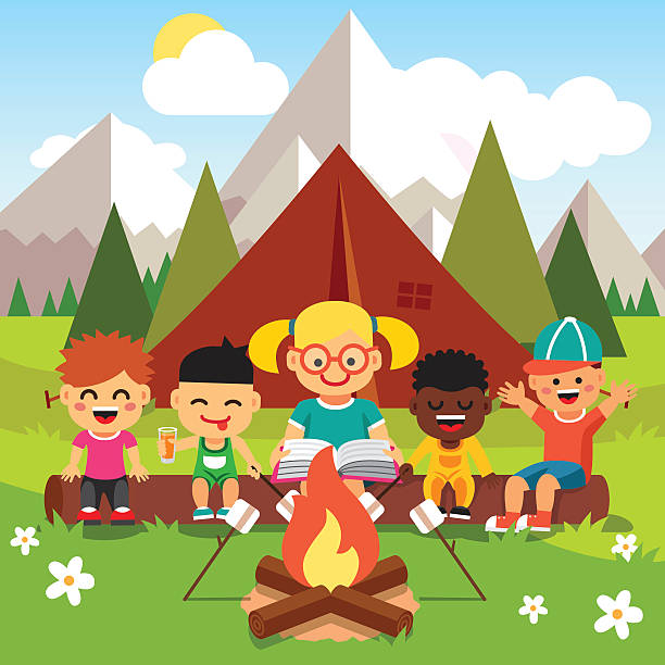 Kids camping clipart image freeuse Kids Camping Clipart 101 Clip Art Clever Harmonious 2 | www ... image freeuse