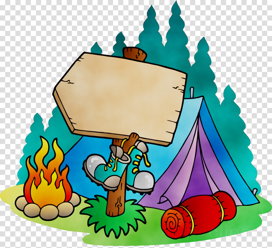 Kids camping clipart banner black and white library Camping Cartoon clipart - Child, Camping, Illustration ... banner black and white library