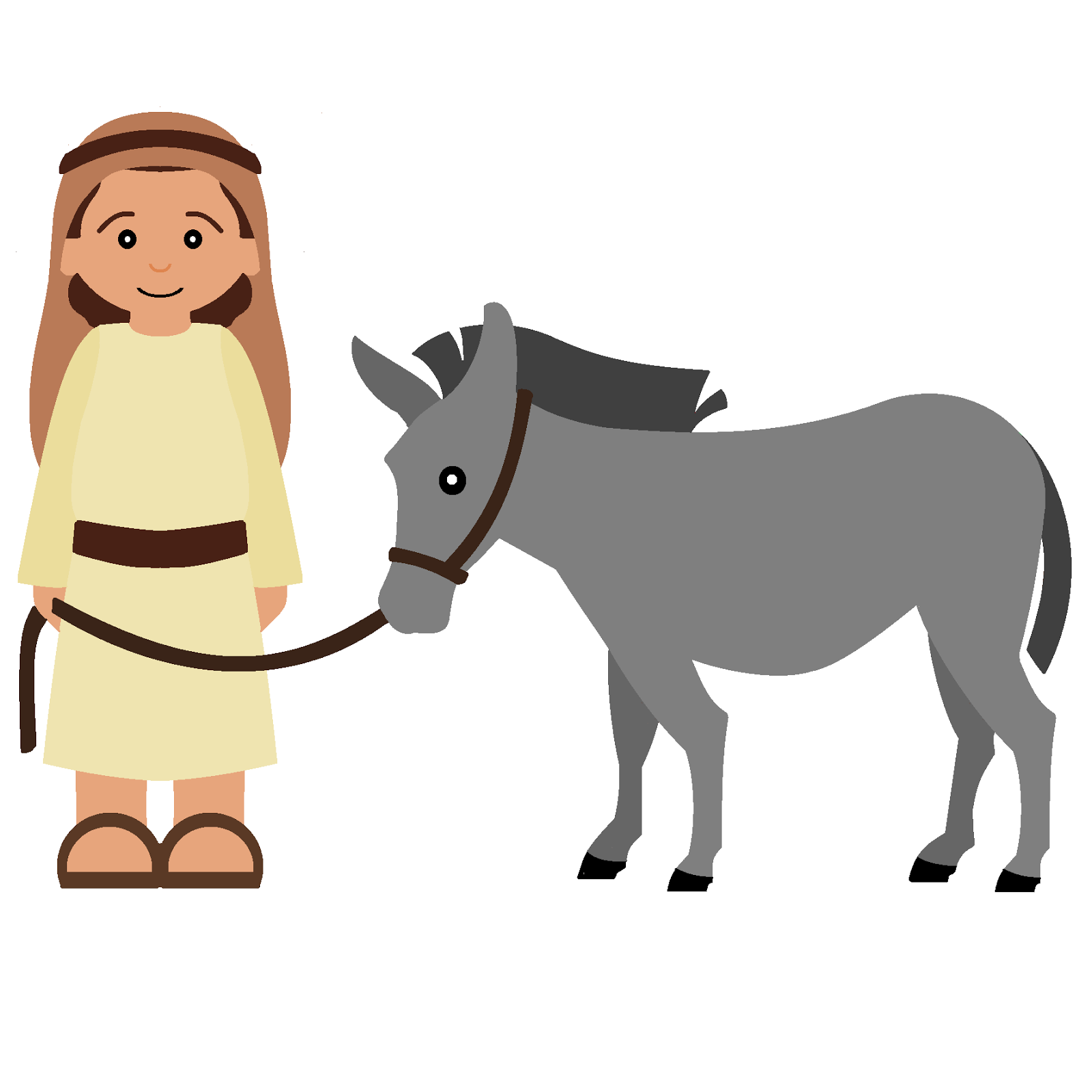 Kids carrying jesus mary and joseph clipart clipart library stock Mary and joseph on a donkey clipart - ClipartFox clipart library stock