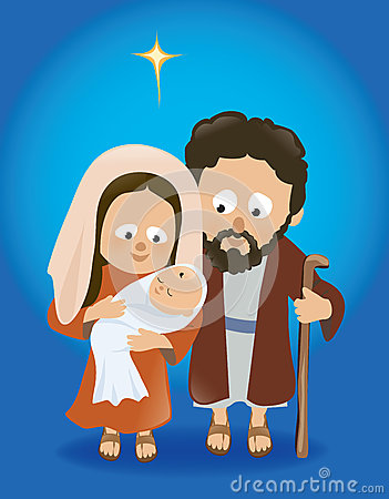 Kids carrying jesus mary and joseph clipart banner royalty free stock Joseph, Mary And Baby Jesus Stock Photos - Image: 34144343 banner royalty free stock
