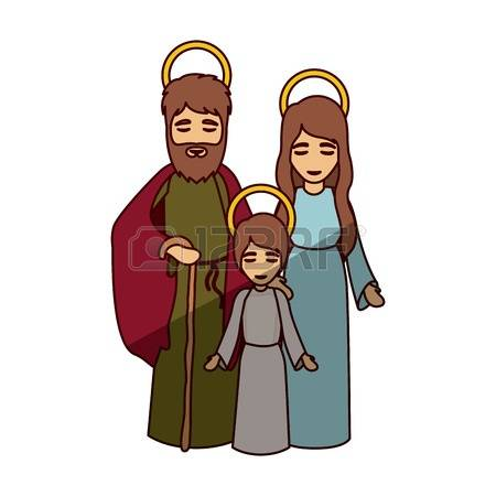 Kids carrying jesus mary and joseph clipart clipart black and white download Kids carrying jesus mary and joseph clipart - ClipartFest clipart black and white download