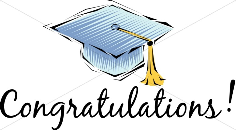 Kids celebration congratulations clipart black and white picture library download Congratulations! Cap and Tassel | Christian Graduation ... picture library download