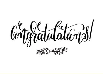 Kids celebration congratulations clipart black and white clipart library stock Congratulations Cards (Free) | Greetings Island clipart library stock
