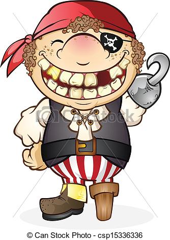 Kids character costumes clipart image Vectors of Pirate Costume Cartoon Character - A goofy kid with a ... image