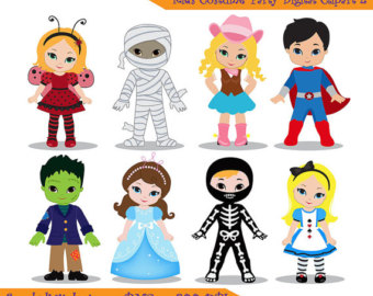 Kids character costumes clipart free stock Kids character costumes clipart - ClipartFest free stock