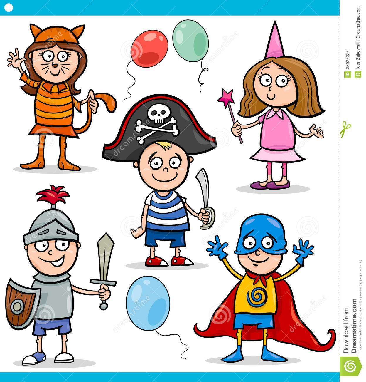 Kids character costumes clipart clip free library Children In Fancy Ball Costumes Set Royalty Free Stock Image ... clip free library