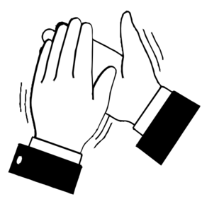 Kids clapping hands clipart png vector royalty free library Black & White Clapping Hands Clip Art at Clker.com - vector ... vector royalty free library