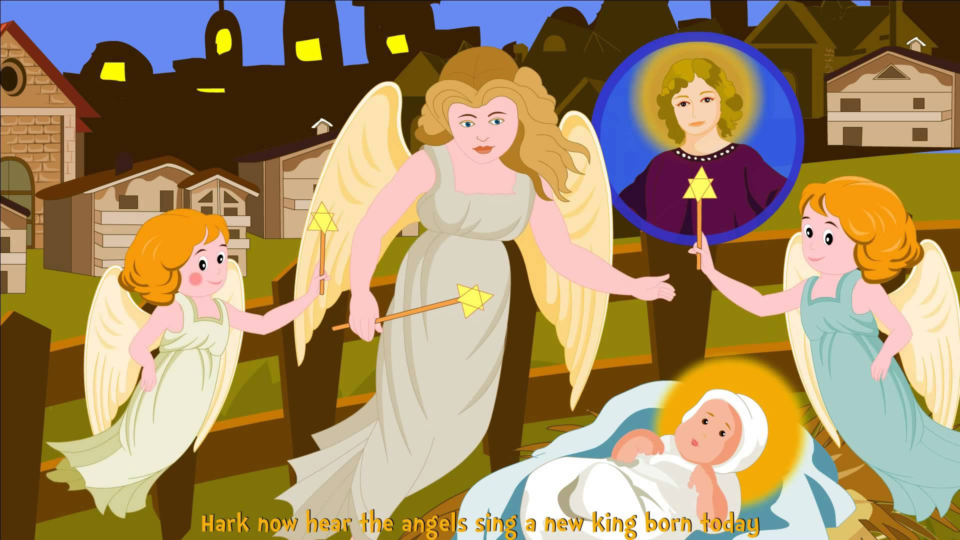 Kids clipart from a long time ago vector transparent stock Long Time Ago In Bethlehem with English Subtitles - Nursery ... vector transparent stock