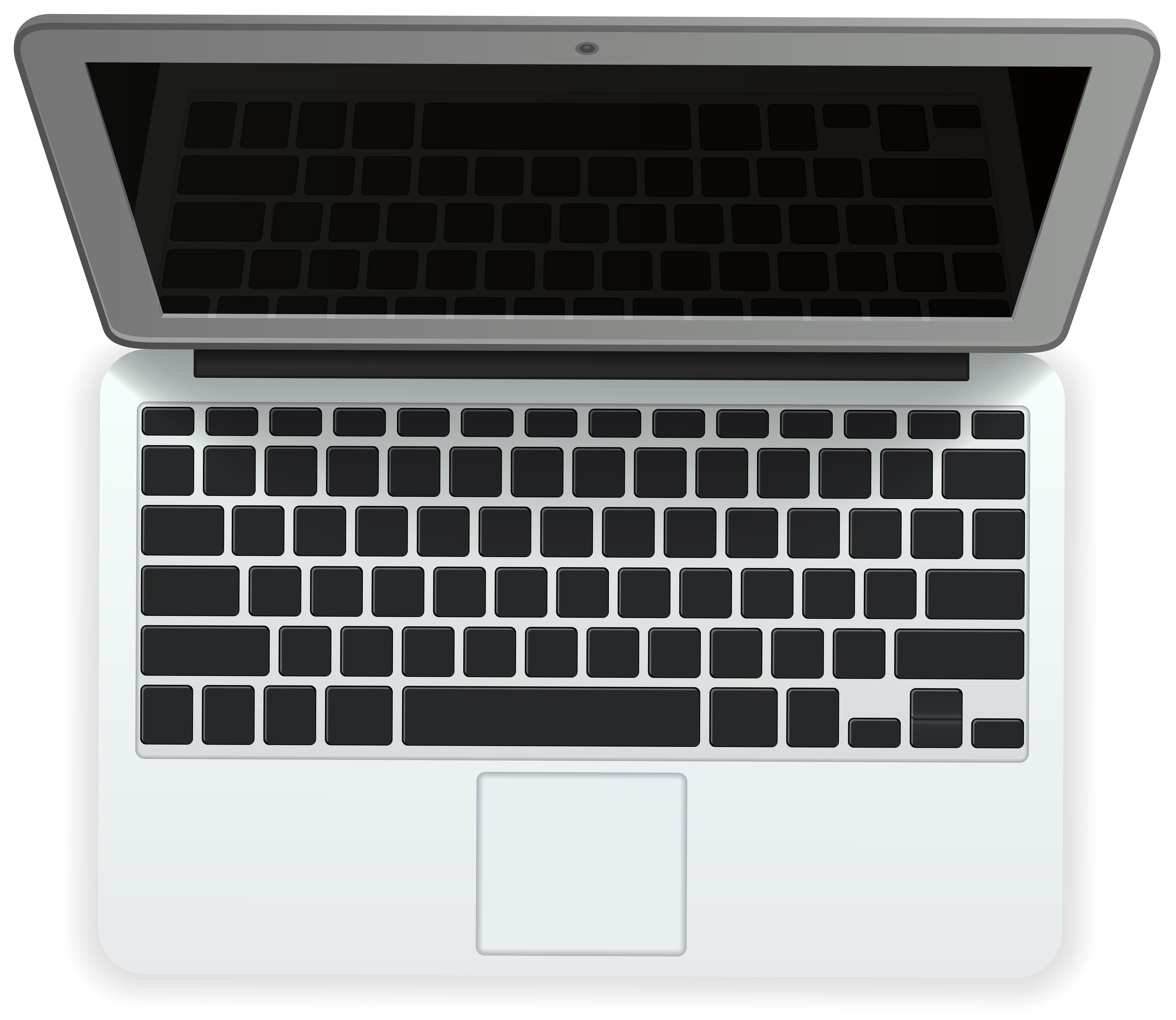 Kids computer keyboard black and white clipart vector free White Laptop PNG Clip Art Image | Gallery Yopriceville - High ... vector free