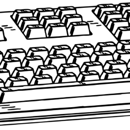 Kids computer keyboard black and white clipart vector black and white library Computer Keyboard Black And White Clipart – Clipart Kid In Style ... vector black and white library