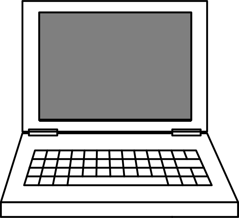 Kids computer keyboard black and white clipart jpg transparent stock Laptop Computer Clipart | Free Download Clip Art | Free Clip Art ... jpg transparent stock