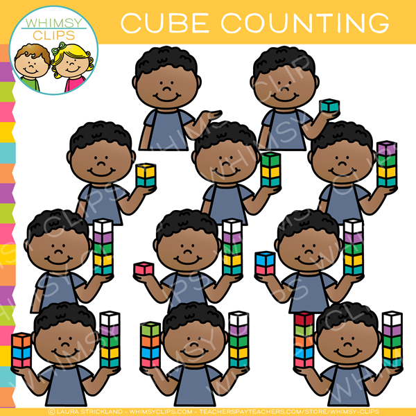 Kids counting clipart svg royalty free library Kids Counting Math Cubes Clip Art svg royalty free library