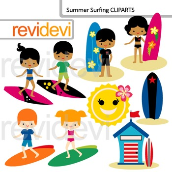 Kids creating cliparts svg black and white download Clip art Surfs up - summer surfing - kids with surf boards cliparts svg black and white download