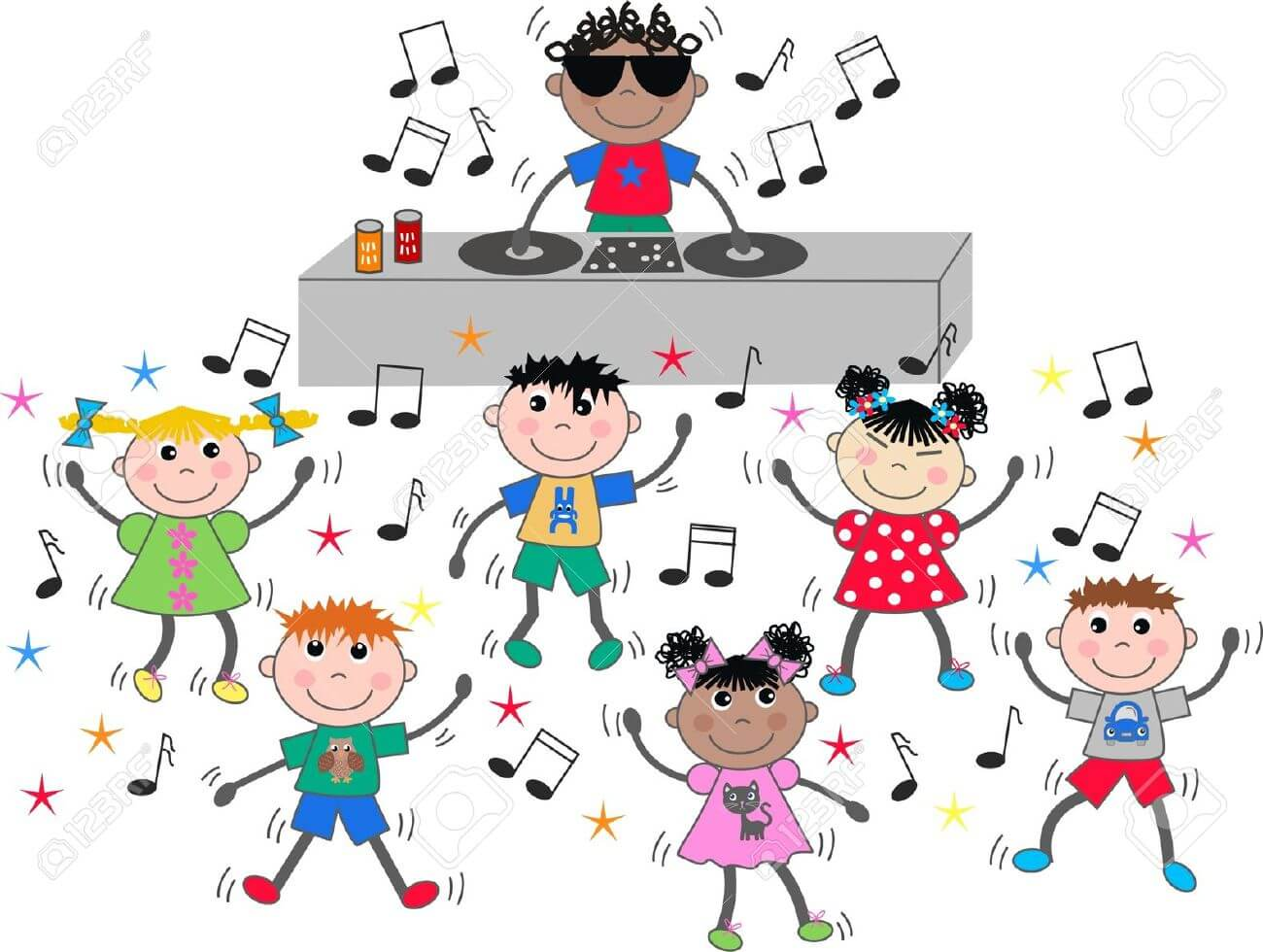 Kids dance party clipart freeuse library DJ (children's party) freeuse library
