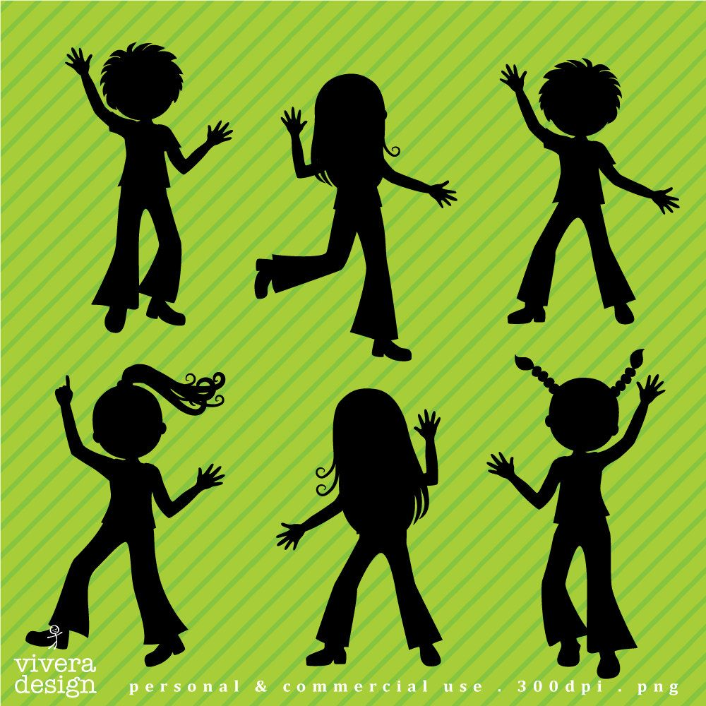 Kids dance party clipart jpg library Digital Clip Art - Disco Party for Kids - Disco Children ... jpg library