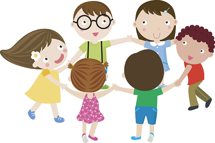 Kids dancing in circle clipart image Dancing in the Streets - Kids Environment Kids Health ... image