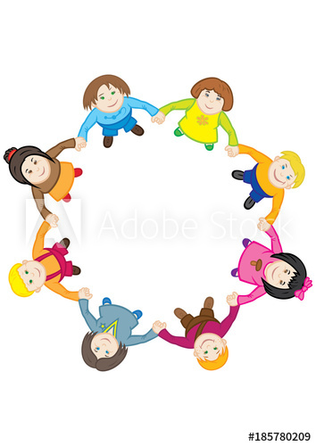 Kids dancing in circle clipart transparent download Happy childrens\' dance around the circle. Illustration ... transparent download