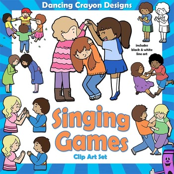 Kids dancing in circle clipart transparent library Singing Games Clip Art Kids | Bulletin Boards | Singing ... transparent library