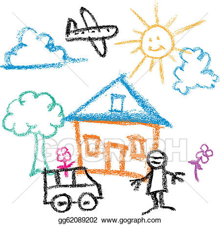 Kids drawing clipart clipart library Vector Art - Kids draw . Clipart Drawing gg62089202 - GoGraph clipart library