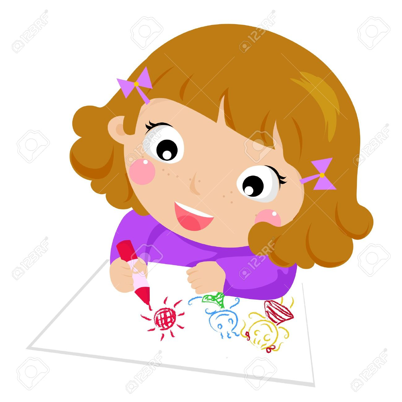 Kids drawing pictures clipart vector free stock Kids Drawing Clipart | Free download best Kids Drawing ... vector free stock