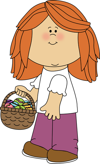 Kids easter basket clipart graphic free library Easter Kids Clip Art - Easter Kids Images graphic free library