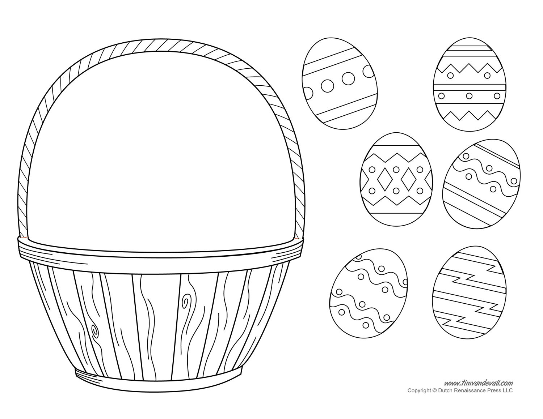 Kids easter basket clipart clip freeuse stock Easter Basket Template, Easter Basket Clipart & Easter Craft clip freeuse stock