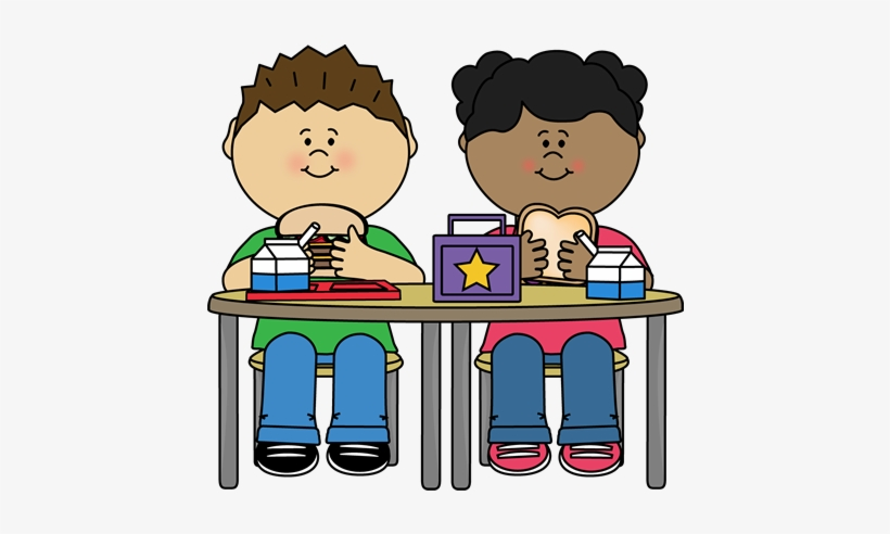 Kids eating breakfast at school clipart black and white library Lovely Kid Eating Breakfast Clipart School Lunch Clip ... library