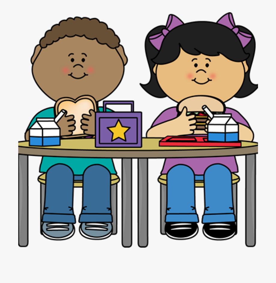 Kids eating clipart png transparent School Lunch Clipart Kids Eating Lunch Kindergarten - Lunch ... png transparent
